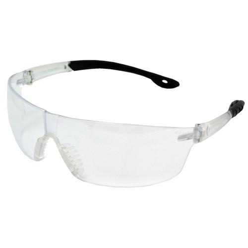 AEGIS IS350 WRAP AROUND ANTI-FOG CLEAR LENS BLACK FRAME SAFETY GLASS