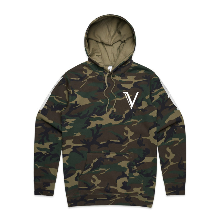 VICTORY KNIVES HOODIE GREEN CAMO