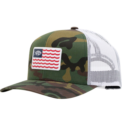 AFTCO canton hat, green camo