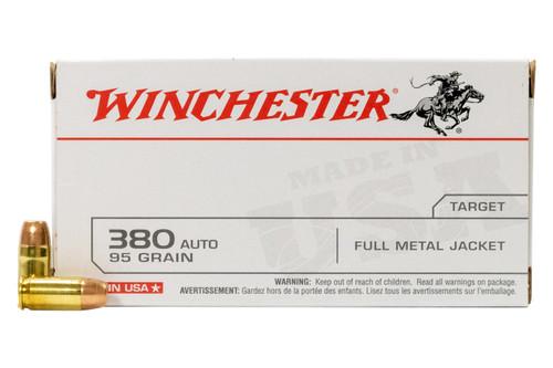 Winchester 380auto 95gr FMJ, 50/bx