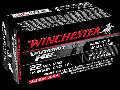 Winchester 22WM, 34gr, 50/bx