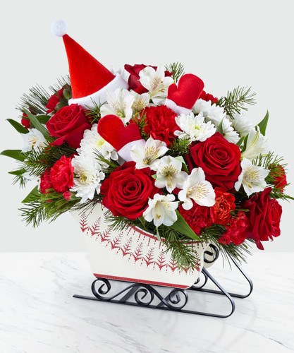 Chicago DASHING THROUGH THE SNOW BOUQUET for local Chicago delivery