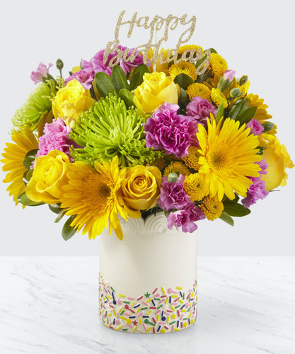 Chicago Birthday Sprinkles Bouquet
