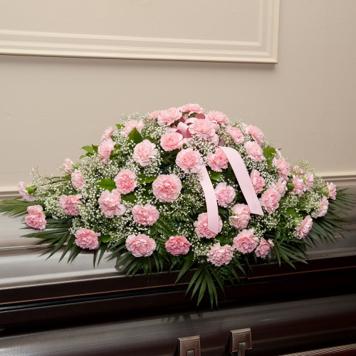 Pink Carnations Casket Spray