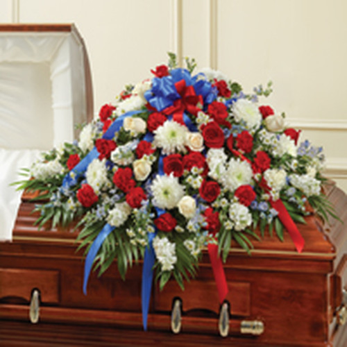 Red, White & Blue Half Casket Spray