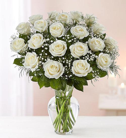 Chicago's 2 Dozen White Rose Bouquet
