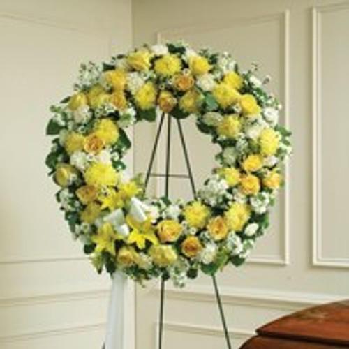 Yellow & White Standing Wreath