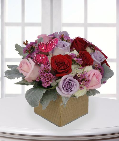 Vintage Pastel Rose Box