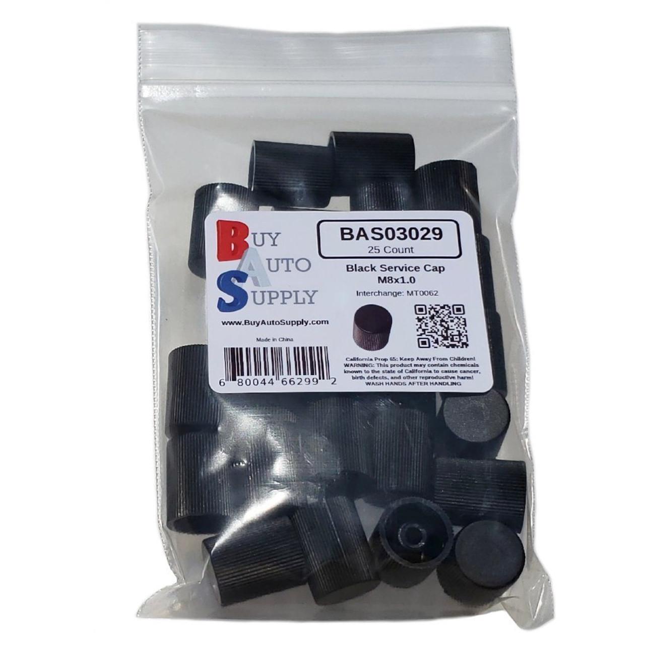 Bag of 25 AC Service Port Caps - Black Low Side M8x1.0 - Interchanges: MT0062, 59937