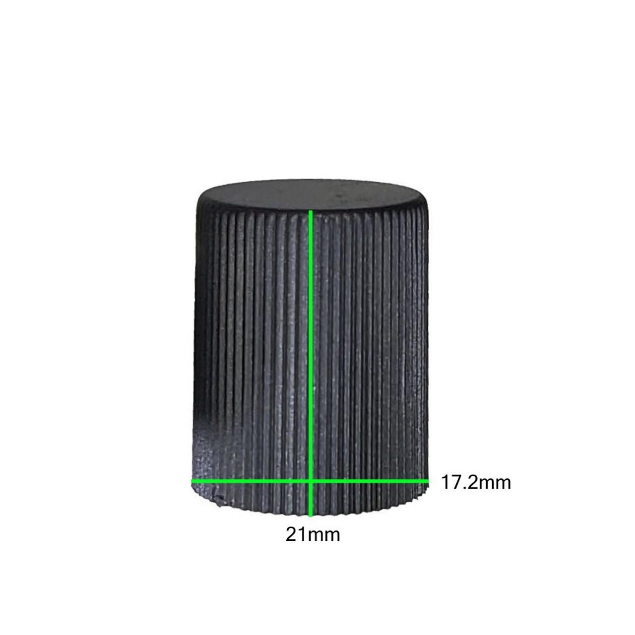 Measurements on Black AC Service Cap - Low Side M8x1.0