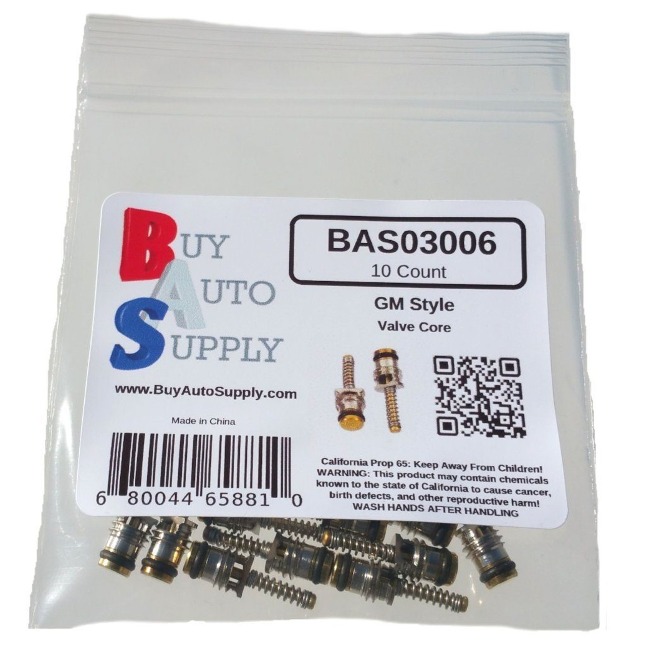 Bag of 10 GM Large Bore - A/C Schrader Valve Core