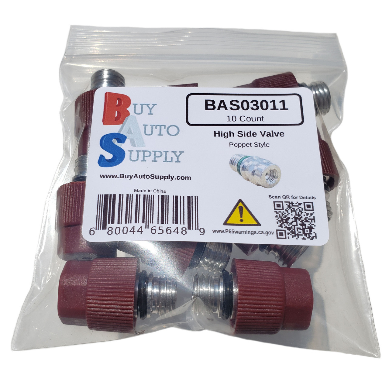 Bag of 10 GM Style Service Ports - High Side Replaces Dorman 800-955