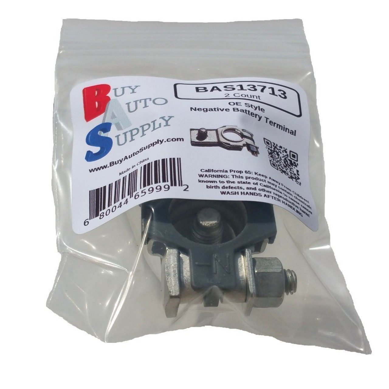 Bag of 2 Negative Battery Terminal Top Post OE Style