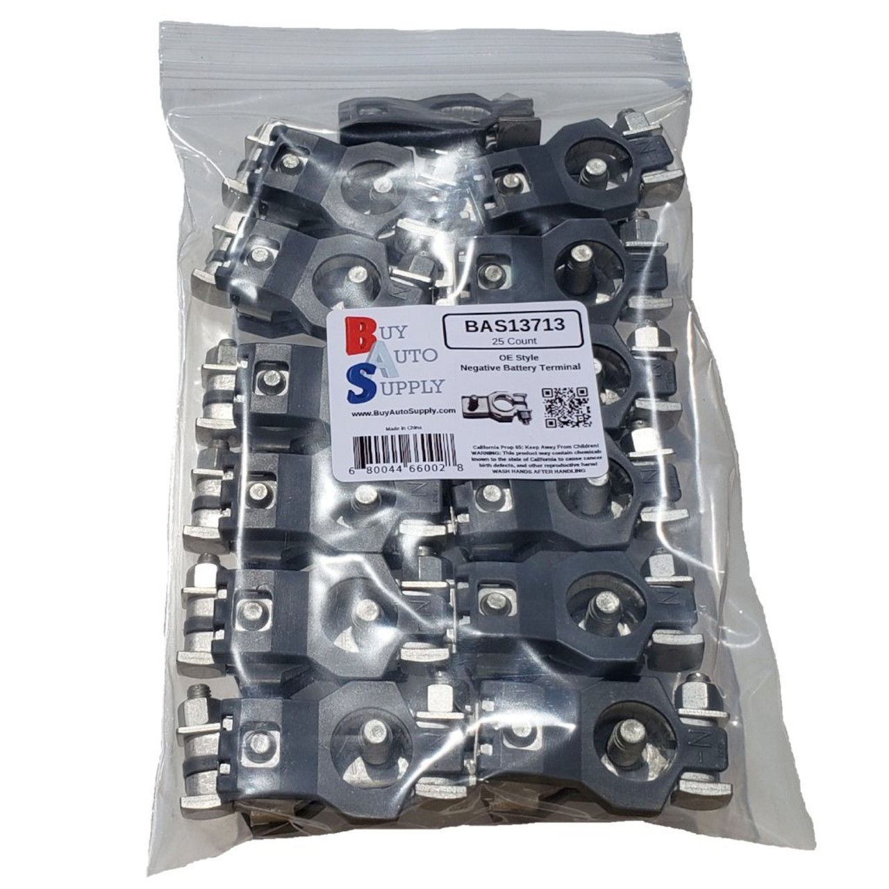 Bag of 25 Negative Battery Terminal Top Post OE Style