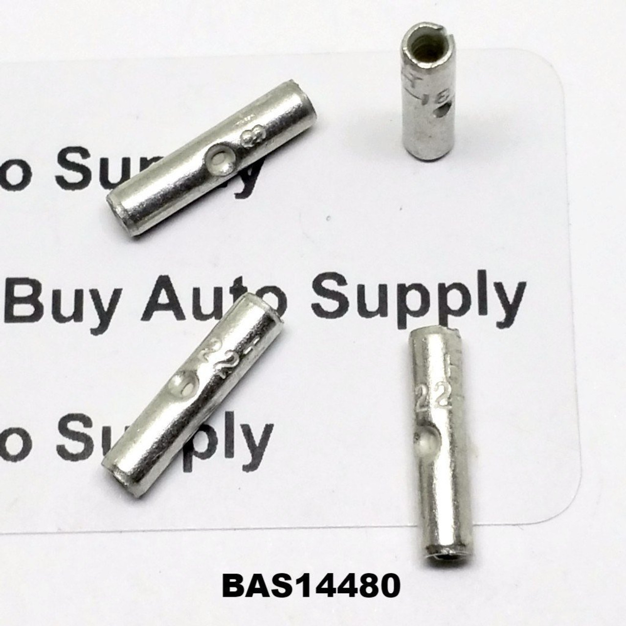 22-18 Non-Insulated Butt Connector - Made in USA- BAS14480