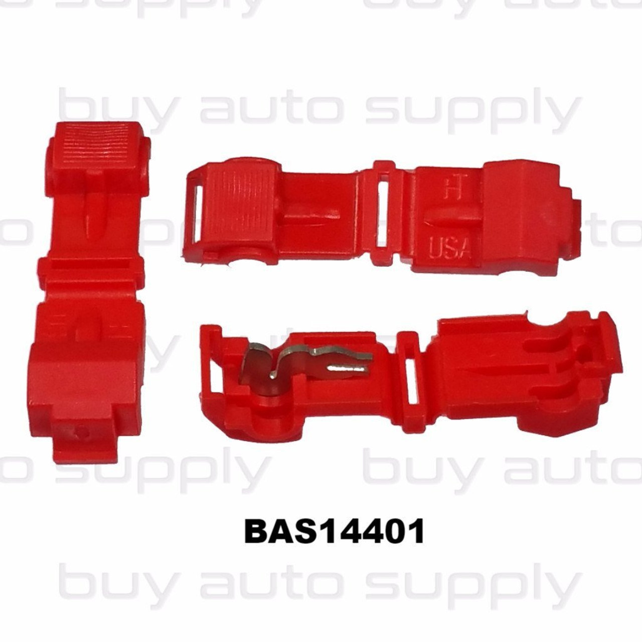 Red Electrical T-Tap (22-18 AWG) USA Made - BAS14401 - from Buy Auto Supply