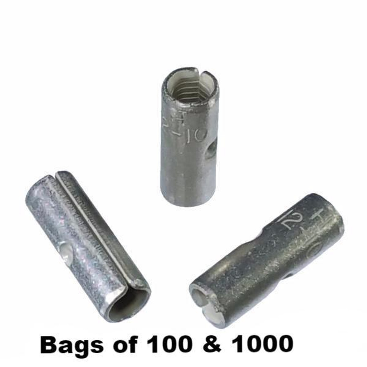 50 Non Insulated WIRE PIN Terminal Connectors Uninsulated #12-10 Wire Gauge AWG
