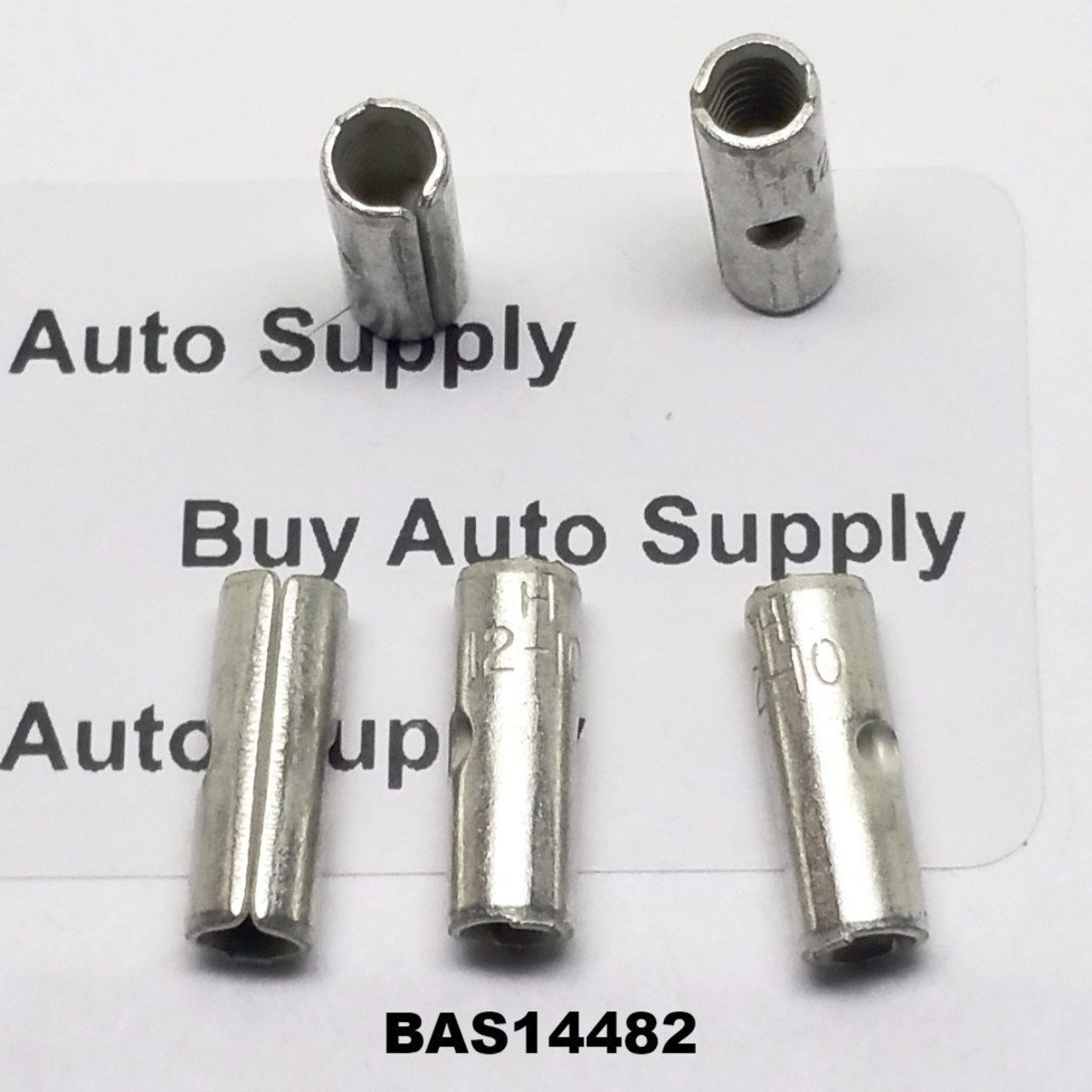 12-10 Non-Insulated Butt Connector - Made in USA- BAS14482