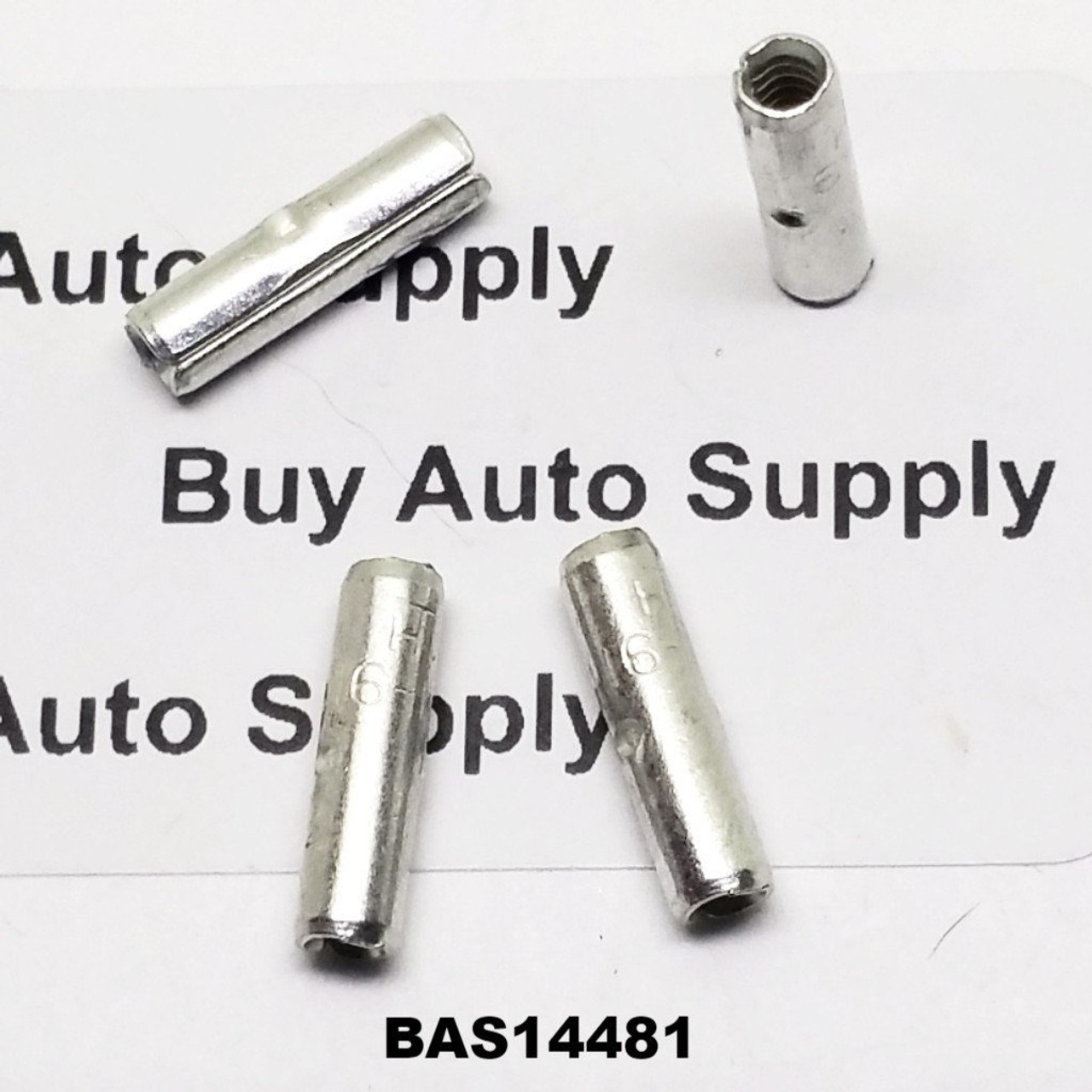 16-14 Non-Insulated Butt Connector - Made in USA- BAS14481