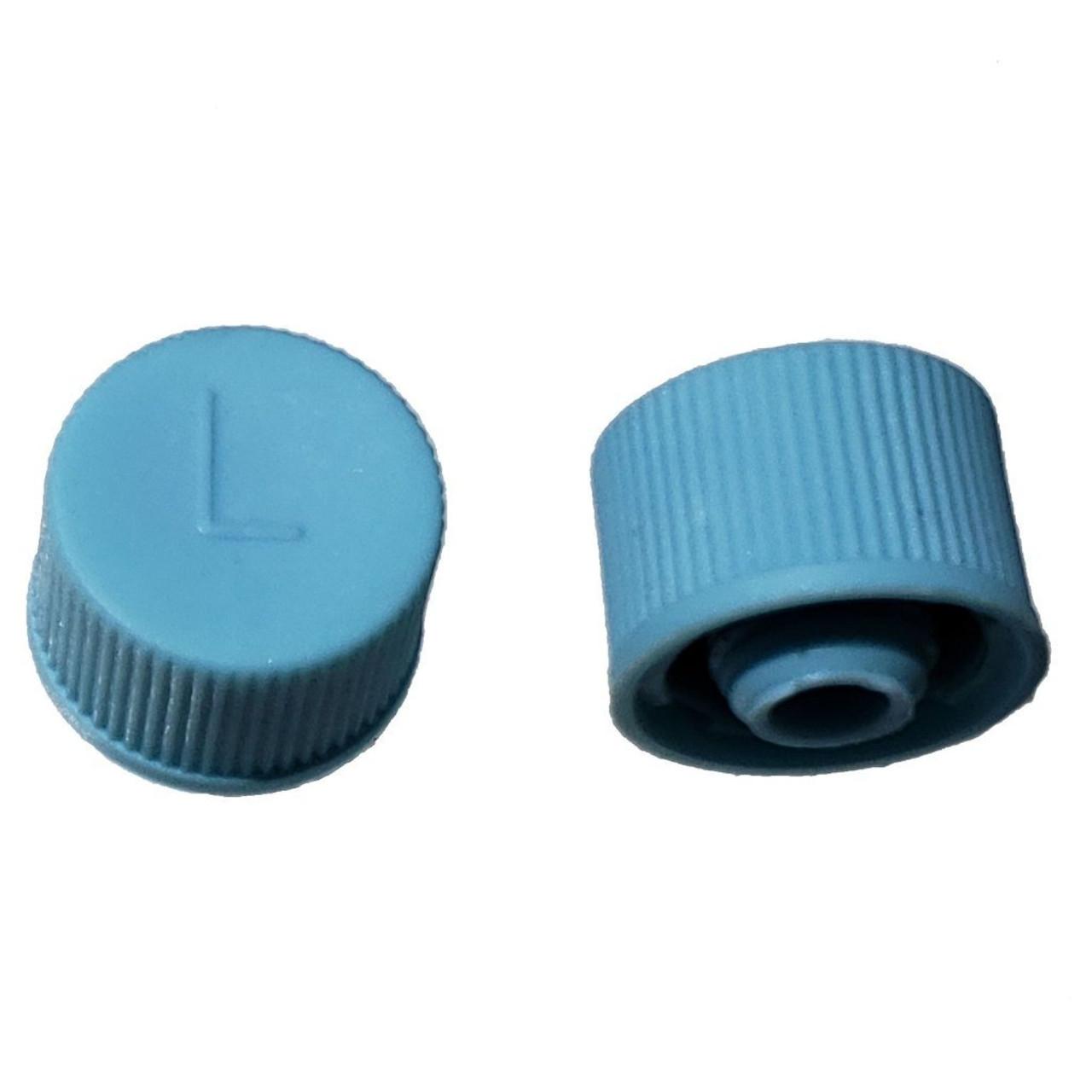 AC Service Valve Cap R134a - Blue Low Side M9x1.0 - Interchanges: MT0310, 69500