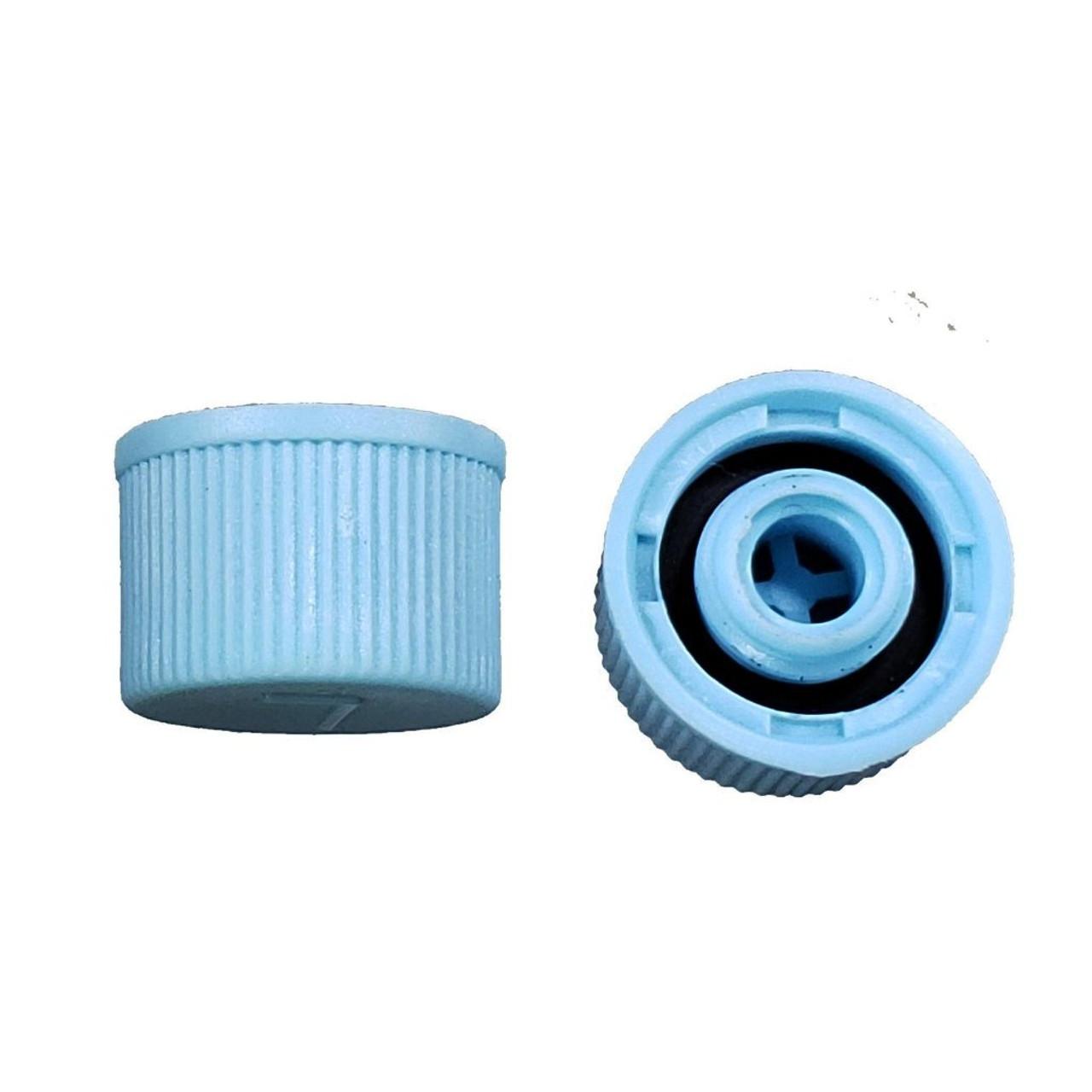AC Service Port Cap R134a - Blue Low Side M9x1.0 - Interchanges: MT0310, 69500