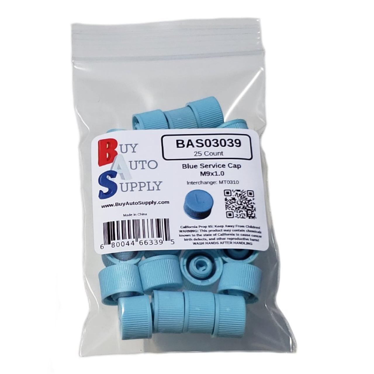 Bag of AC Service Valve Caps R134a - Blue Low Side M9x1.0 - Interchanges: MT0310, 69500