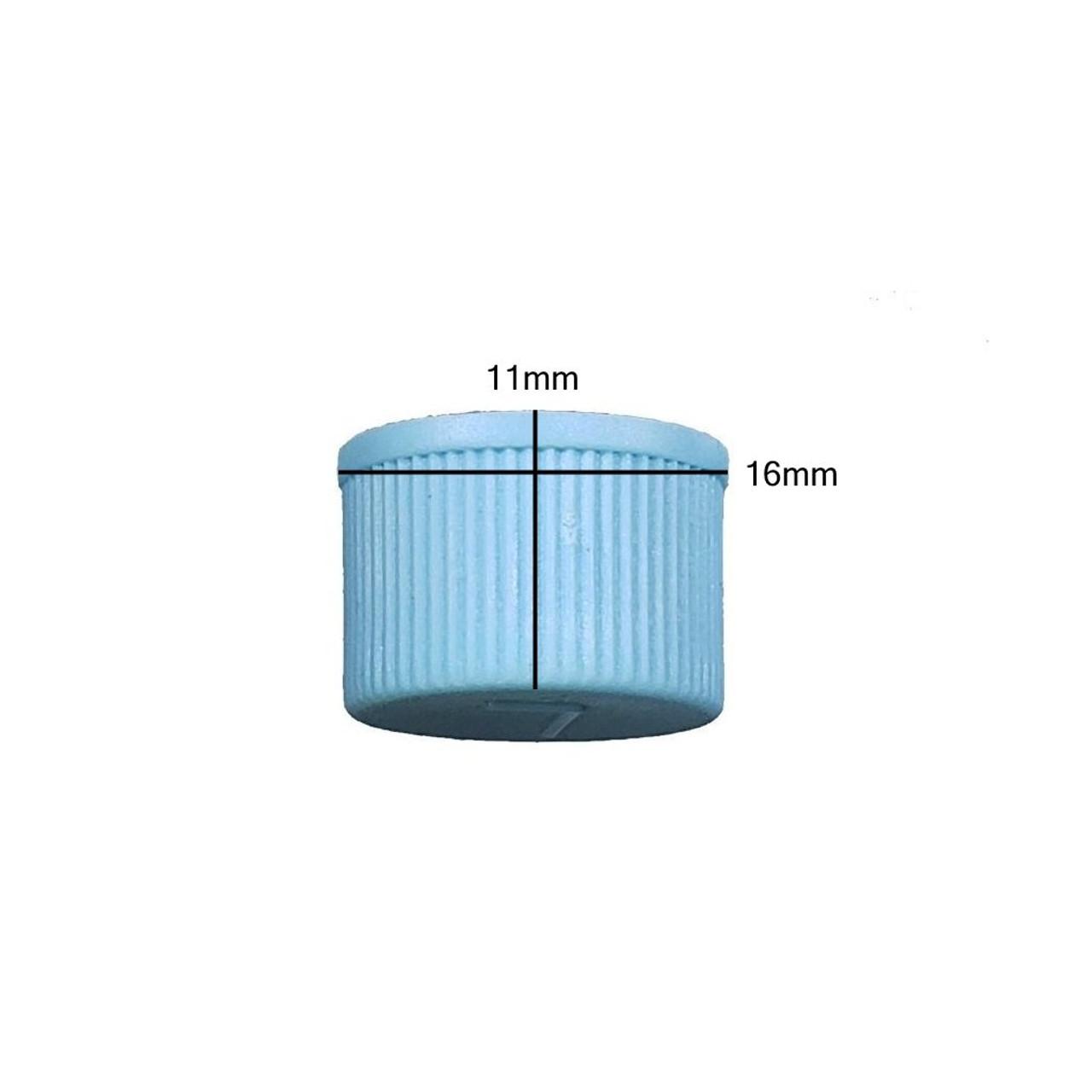 Measurements on AC Service Cap R134a - Blue Low Side M9x1.0