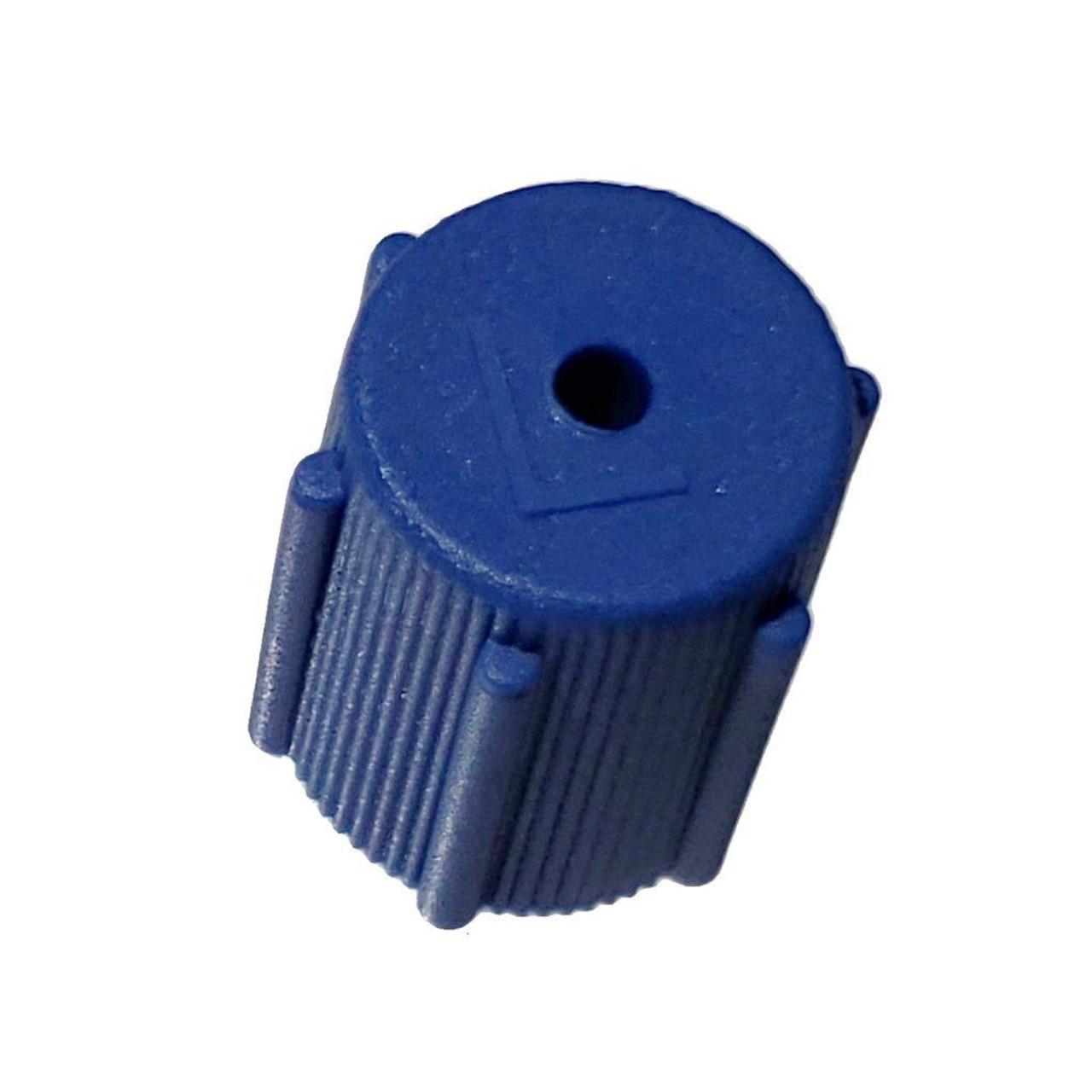 AC Service Cap R134a - Blue Low Side M8x1.0 - Interchanges: MT0063, 59987