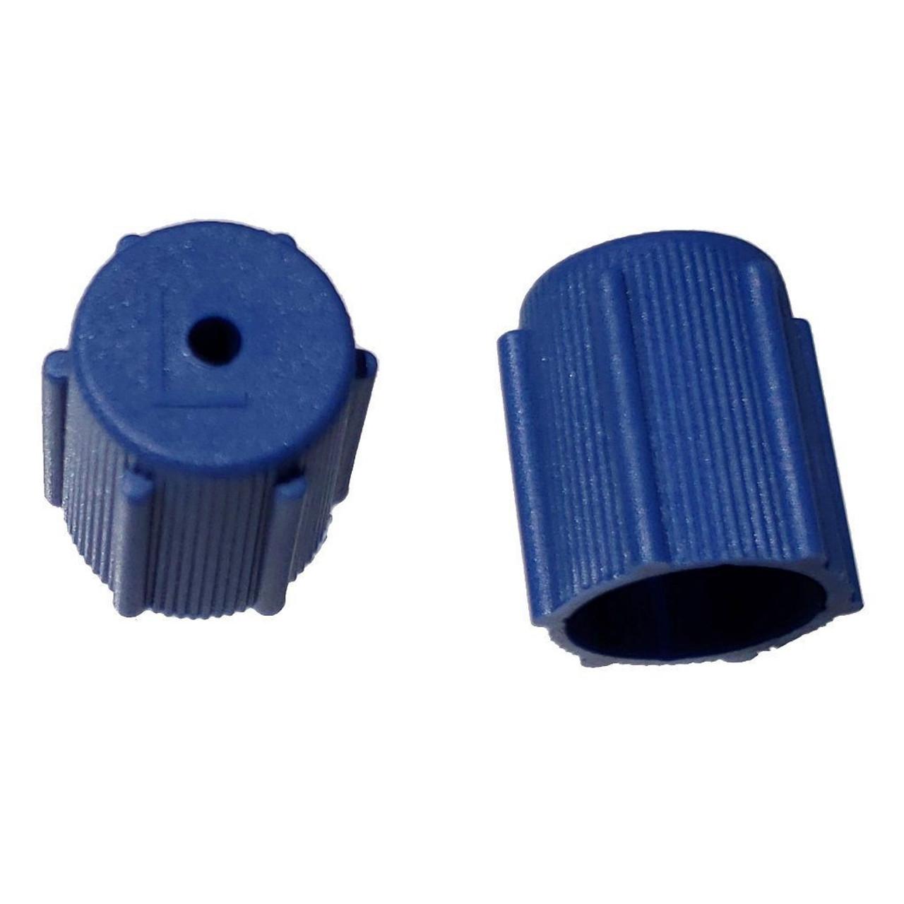 AC Service Port Cap - Blue Low Side M8x1.0 - Interchanges: MT0063, 59987