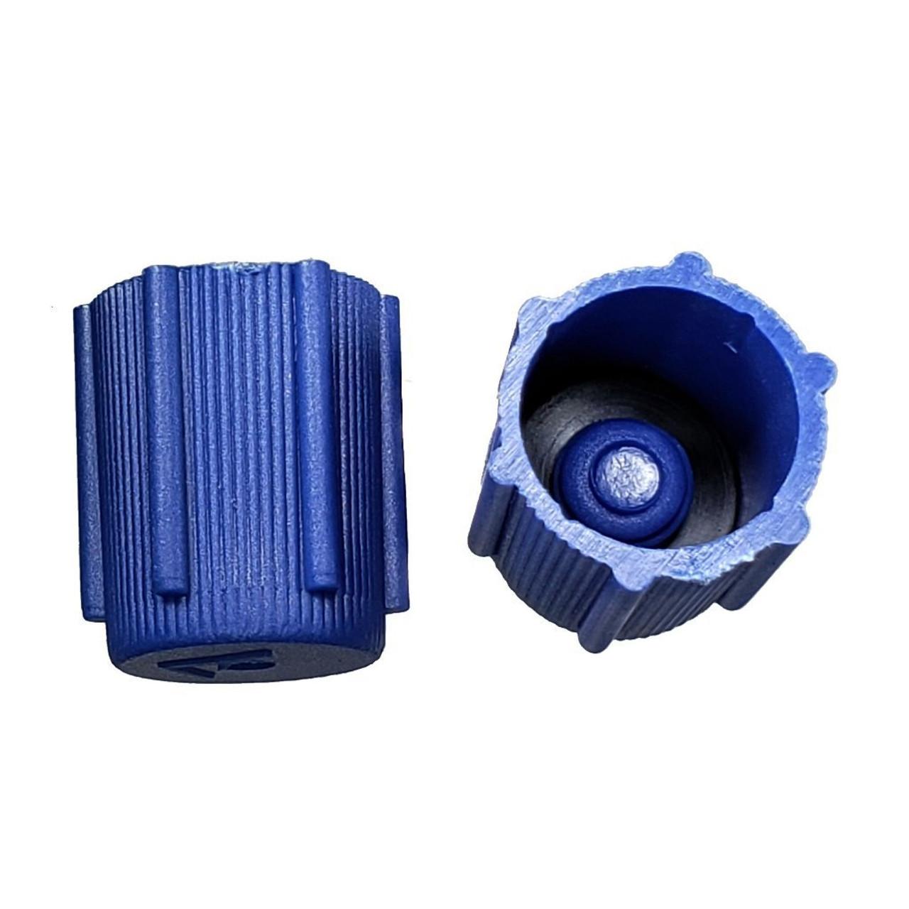 AC Service Valve Cap - Blue Low Side M8x1.0 - Interchanges: MT0063, 59987