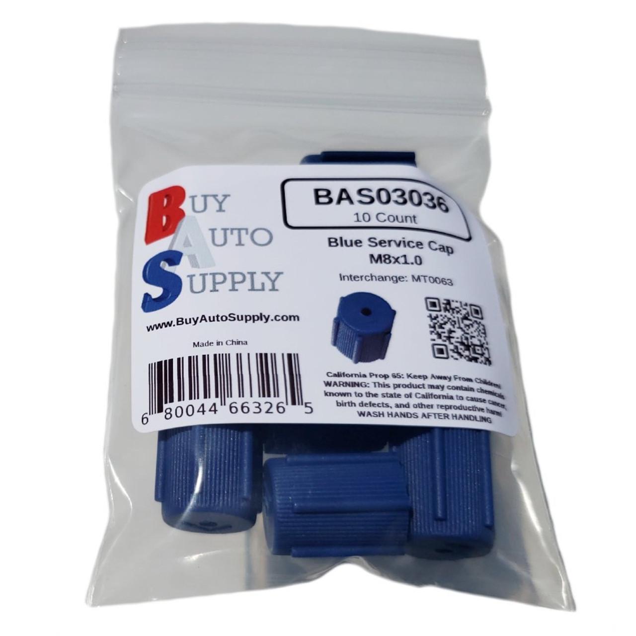 Bag of AC Service Caps R134a - Blue Low Side M8x1.0 - Interchanges: MT0063, 59987