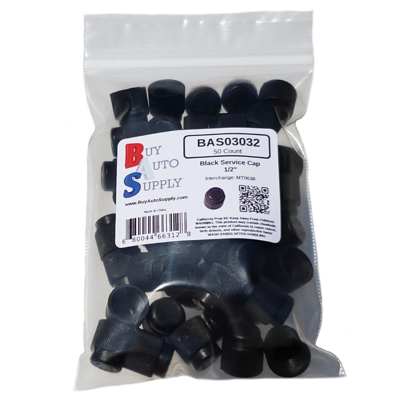 "Bag of 50 AC Service Caps - Black ACME 1/2"" - R12"