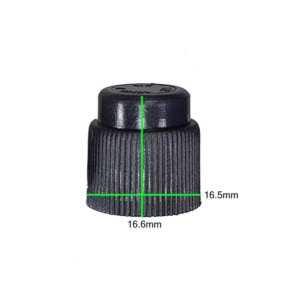 """Measurements on AC Service Cap - Black ACME 1/2"""" - R12"""