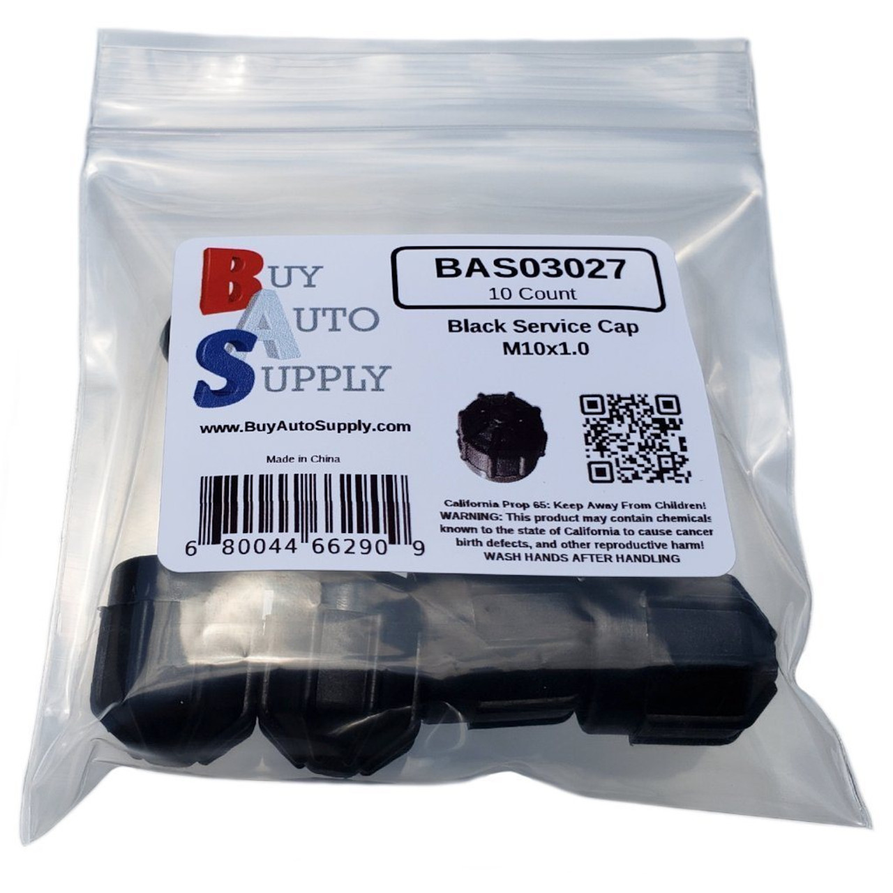 Bag of 10 AC Service Caps Black M10x1.0 Interchanges:  BMW 64538387438