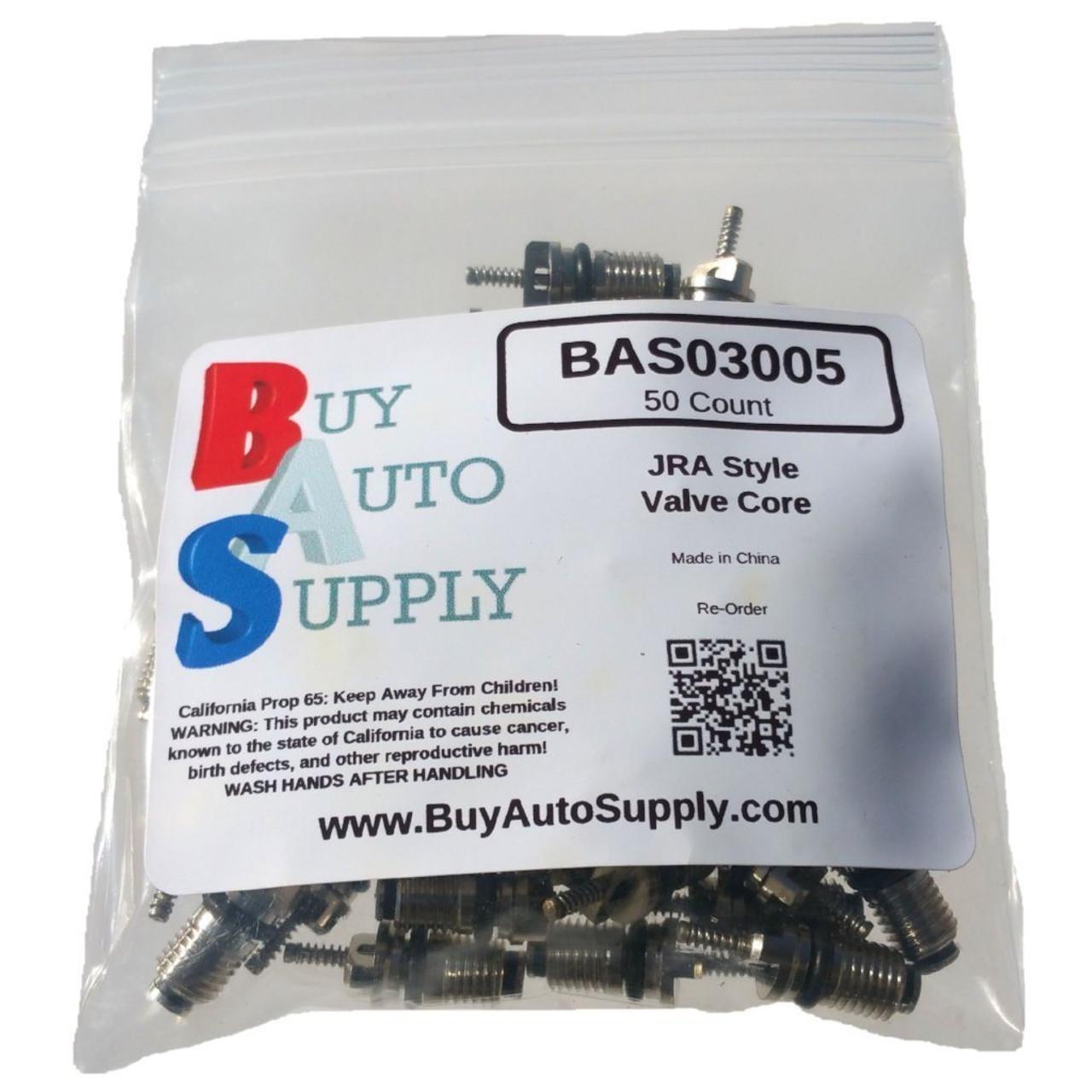 Bag of 50 JRA A/C Schrader Valve Core - BAS03005 - Interchange - 409914, FJC-2674, 59347, Delco 15-75234, MT0059