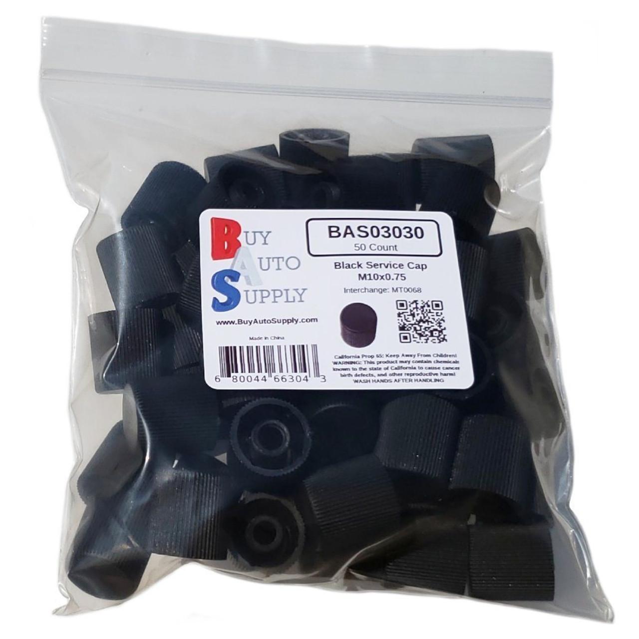 Bag of 50 AC Service Valve Caps - Black High Side M10x0.75 - Interchanges: MT0068, 59938