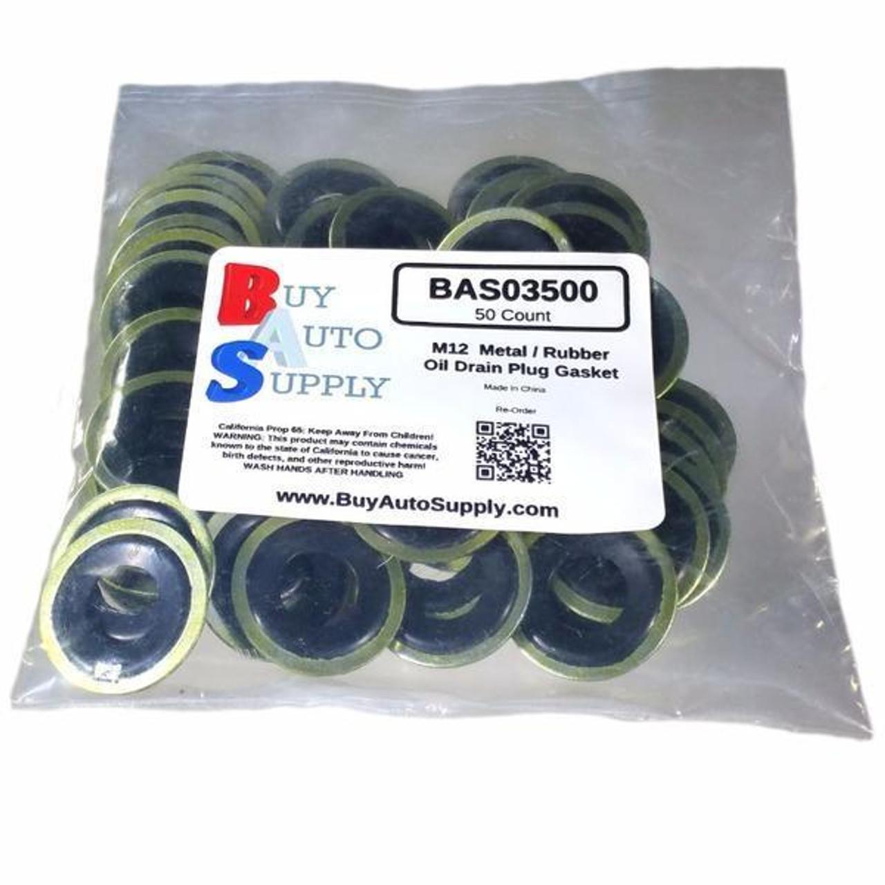 Bag of 50 M12 Metal Rubber Oil Drain Plug Gaskets