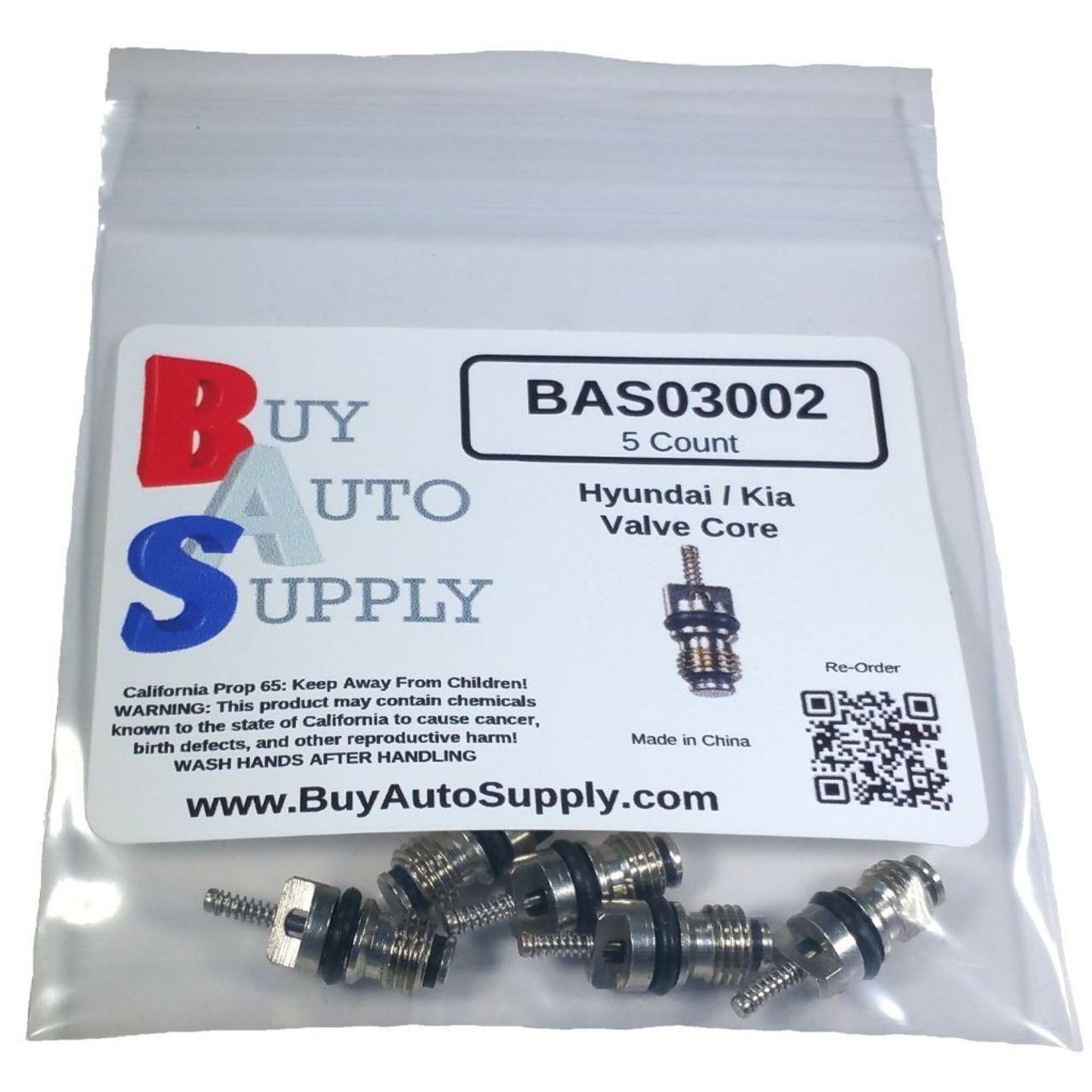 Bag of 5 Hyundai, Kia AC Valve Core R134A - Interchanges: 978122230