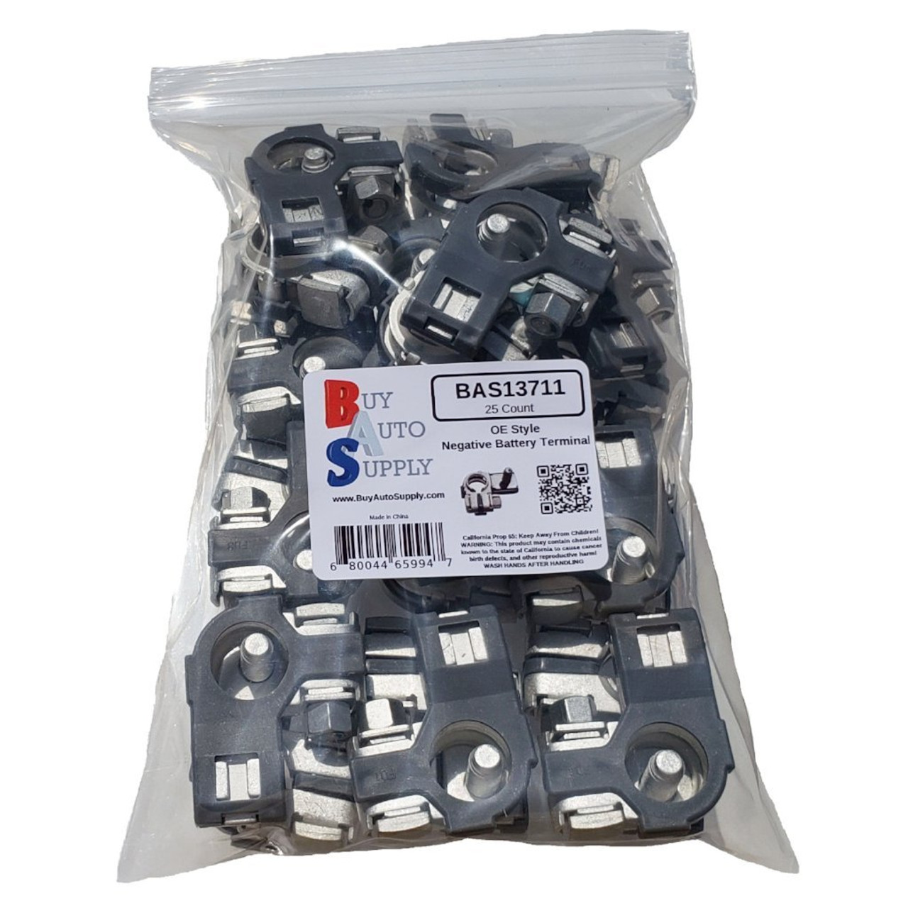 Bag of 25 Flag style Negative Top Post Battery Terminal