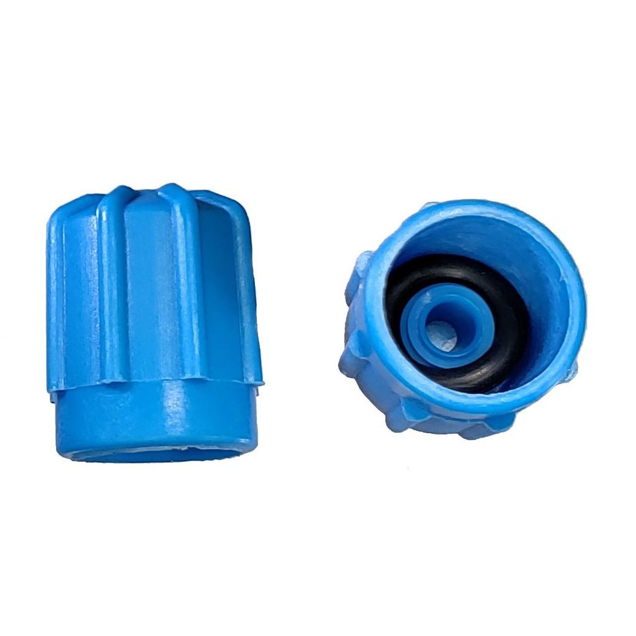 AC Service Port Cap - Blue Low Side M8x1.0