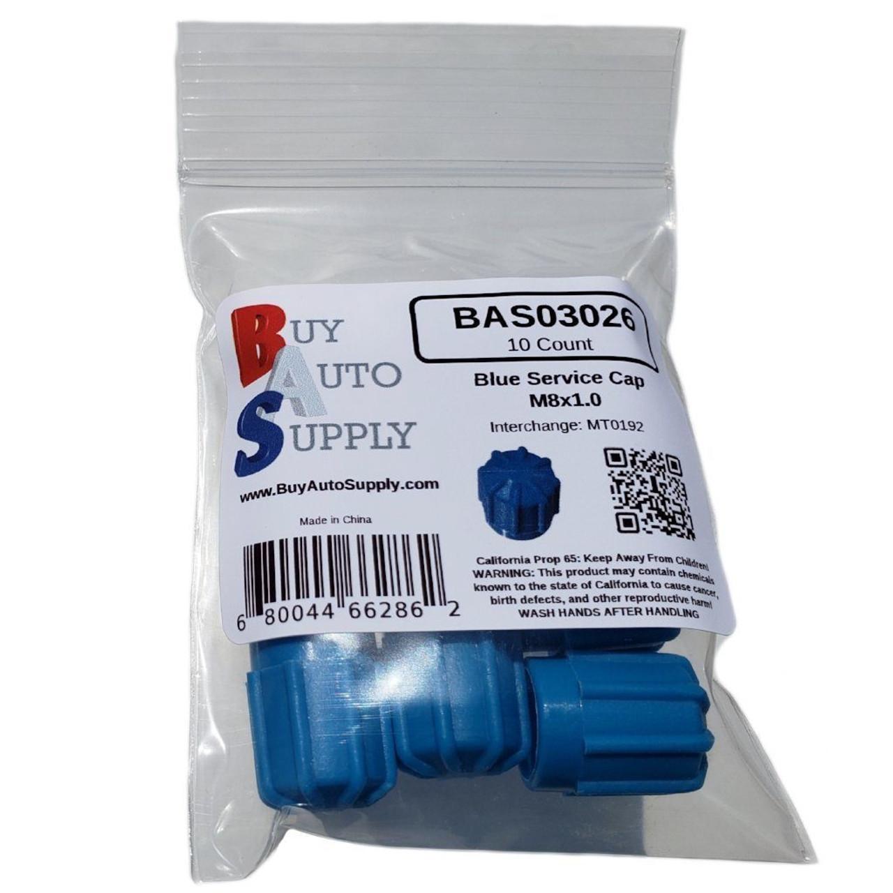 Bag of AC Service Caps - Blue Low Side M8x1.0, Interchanges: MT0192