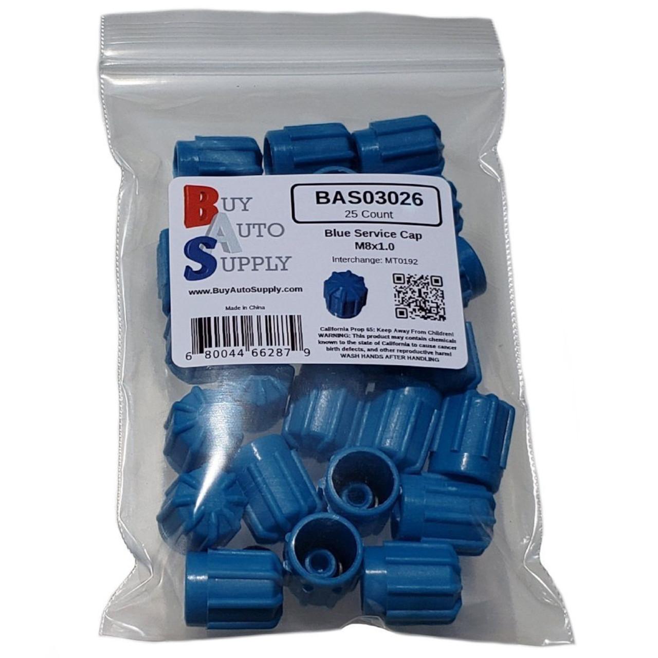 Bag of AC Service Port Caps - Blue Low Side M8x1.0