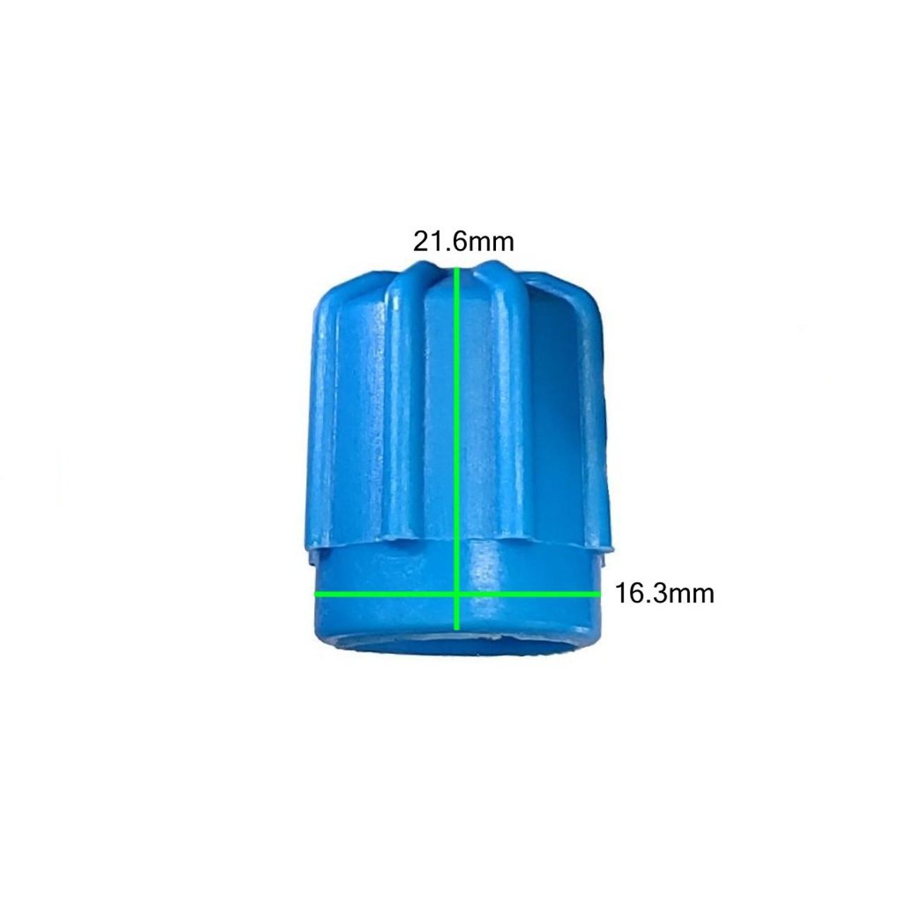 Measurements on AC Service Cap - Blue Low Side M8x1.0