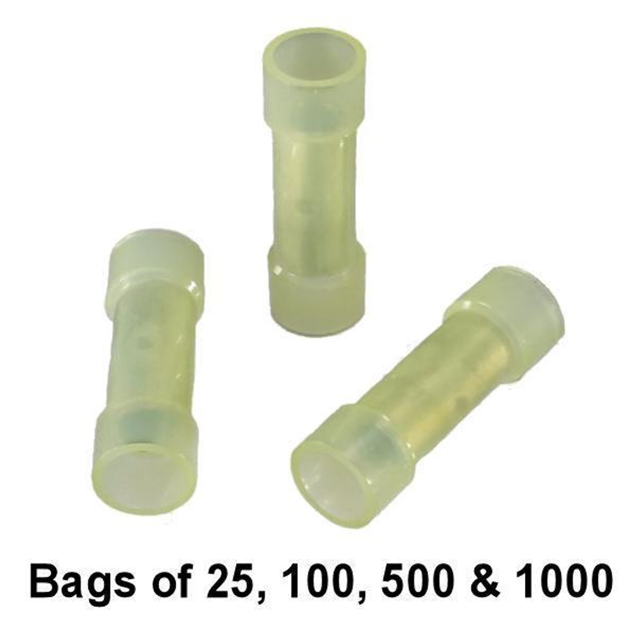 Yellow Nylon Butt Connector - Bulk / Wholesale