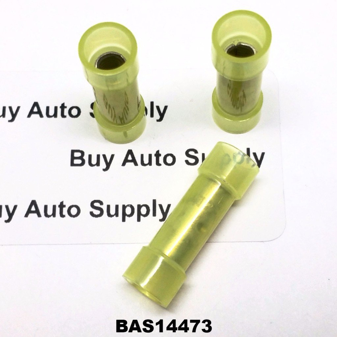 BAS14473 - Yellow Nylon Butt Connector - Made in USA - from Buy Auto Supply