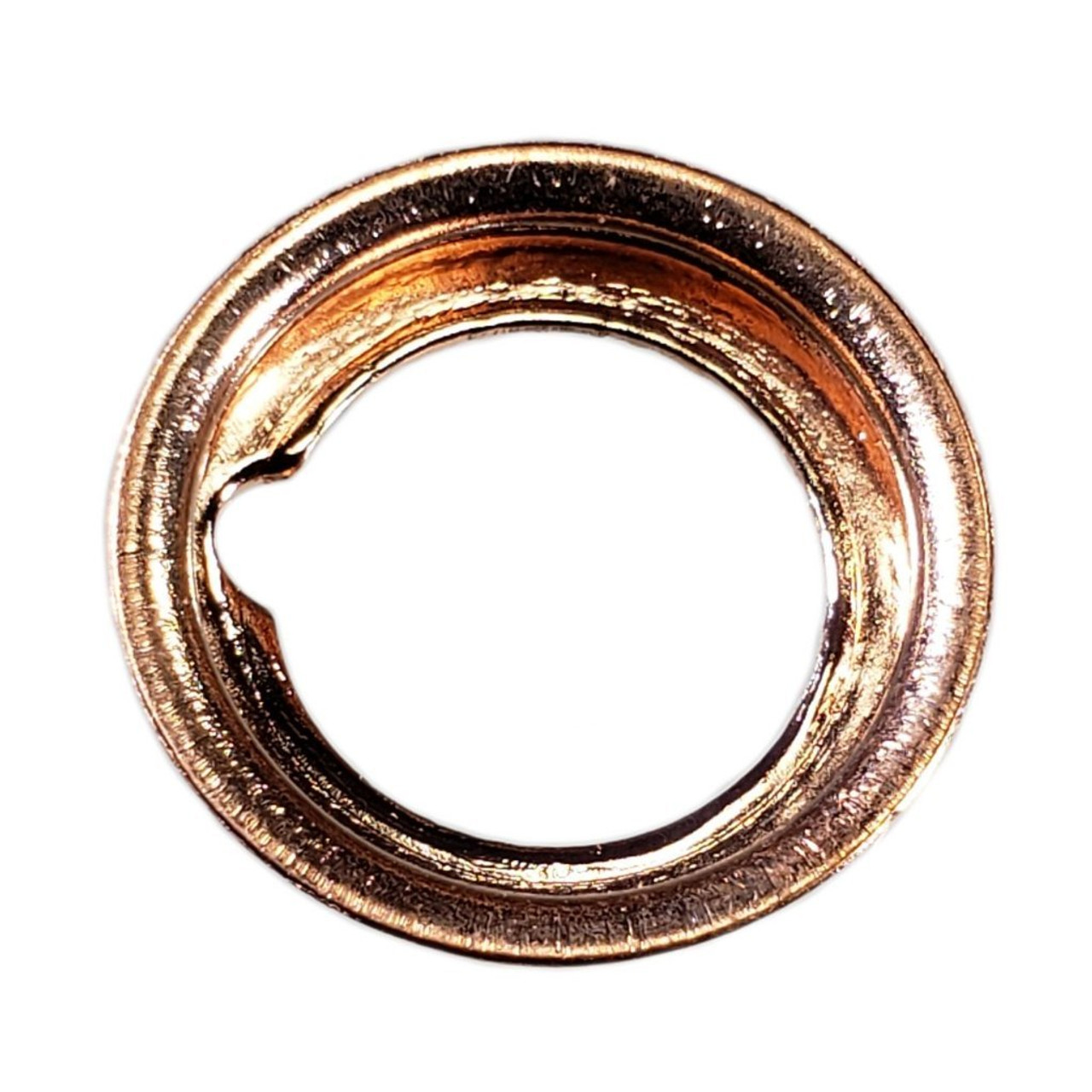 Back view of M12 Nissan Style Crush Drain Plug Gasket - Interchanges: Dorman 097-134, Nissan 11026-01M00, 11026-01M02, 11026-JA00A , Ford F4XY-6734-A, XF5Z-6734-AA