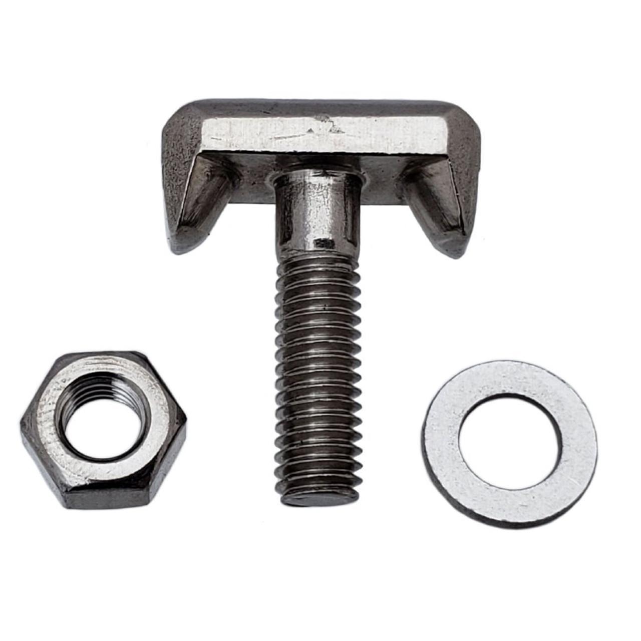 Battery Terminal T-Bolt stainless steel, Interchanges: Dorman 64740 GM 19116852, Audi VW 6X0-915-138, BMW 61128373946