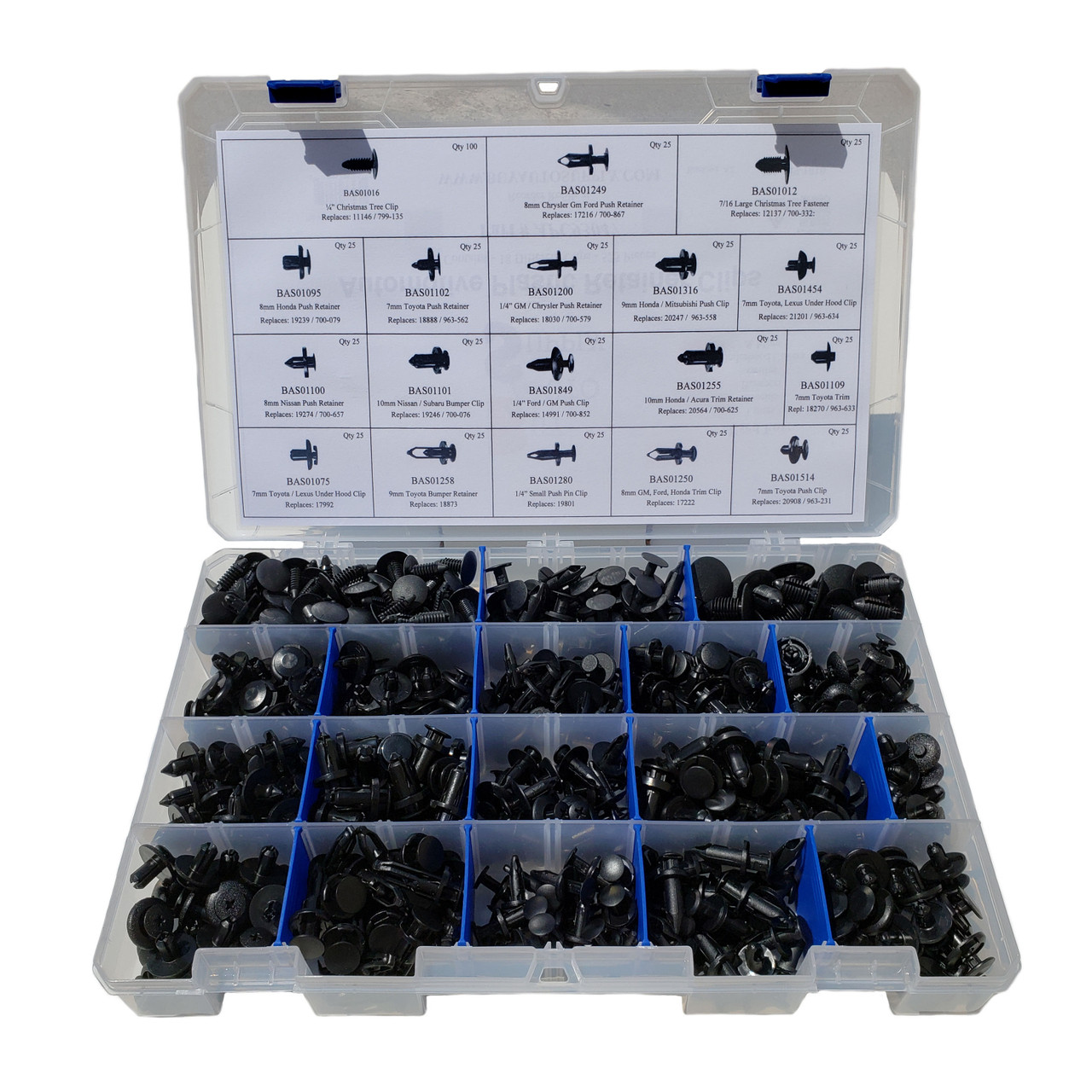 APC93047 - Master Clip Kit - 18 Styles / 525 Pieces