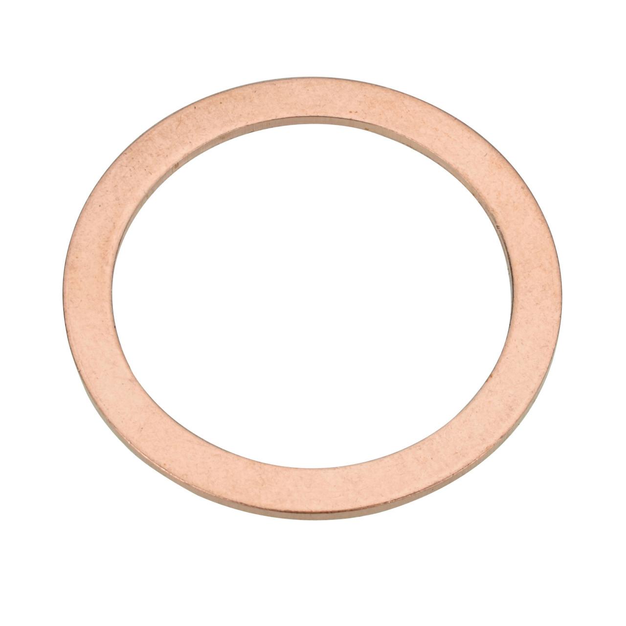 M22 Copper Oil Drain Plug Gasket - Interchanges: Nissan 11026-41B00