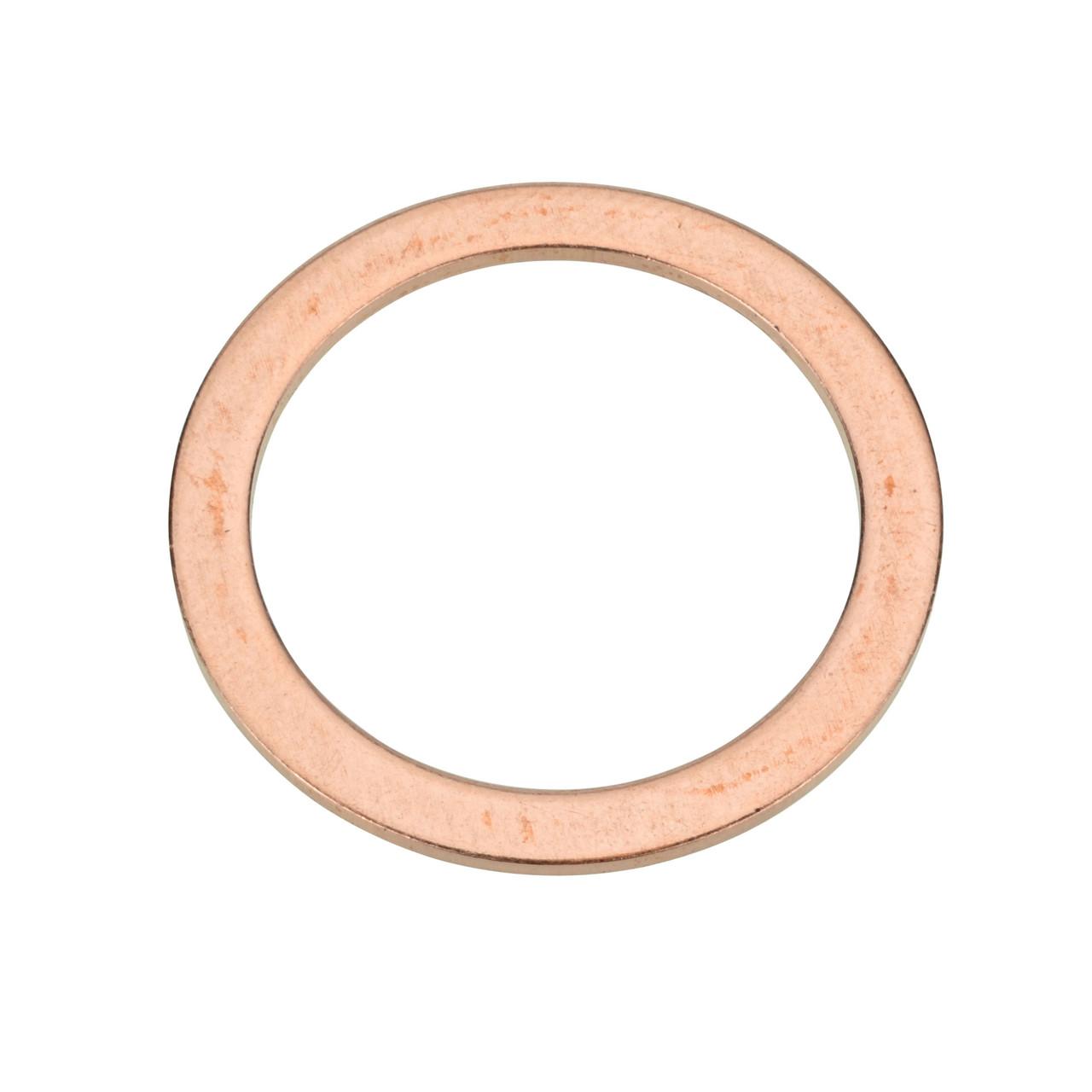 M20 Copper Oil Drain Plug Gasket - Interchanges: Nissan 01351-00012